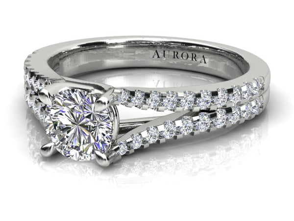 18ct white gold .43pt Aurora Diamond Engagement Ring