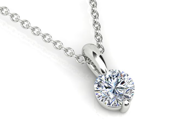 18ct white gold .20pt Aurora Diamond Pendant with a 18ct white gold chain