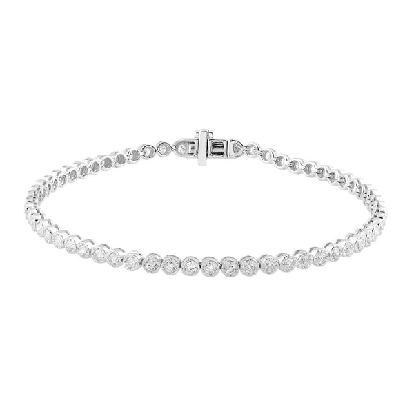 Bracelet with 1.4ct Diamonds in 9K White Gold