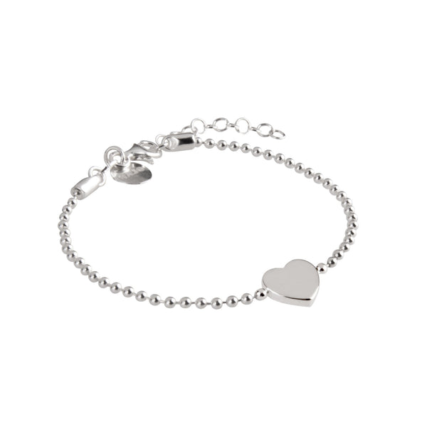 Najo Sterling Silver Polly Heart Bracelet