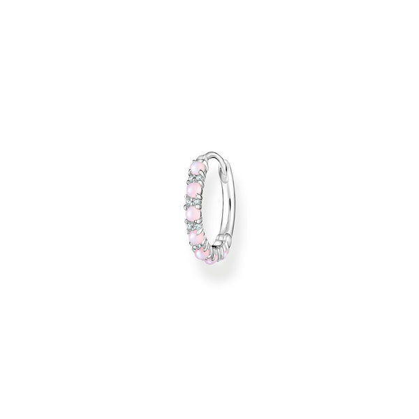 Thomas Sabo Single Hoop Earring Pink Stones Silver