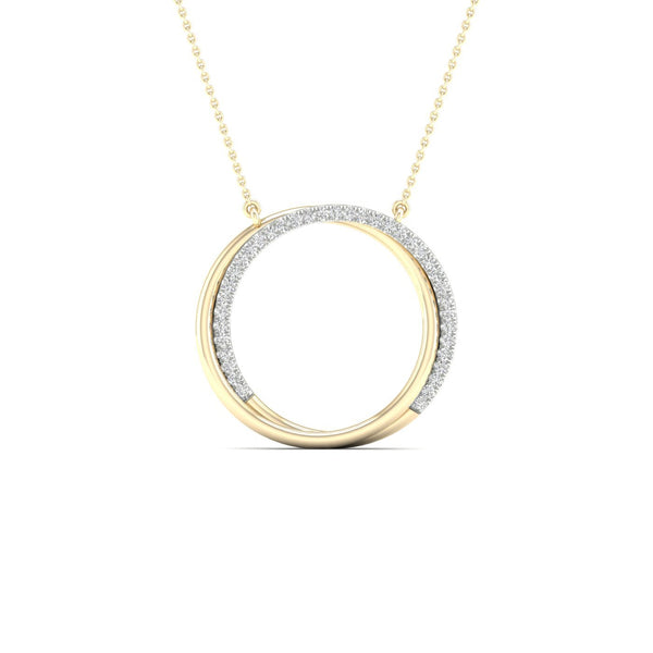 9Ct Gold 0.15Ct Diamond Necklet