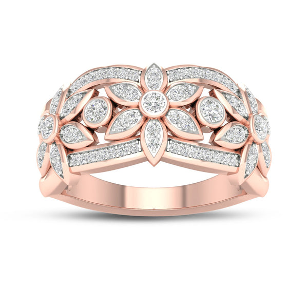 9Ct Rose Gold 0.33Ct Diamond Ring
