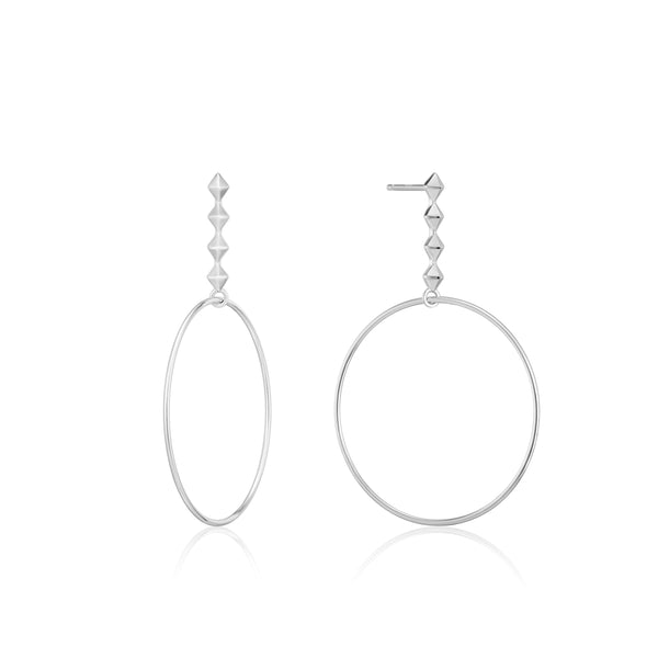 Ania Haie Silver Spike Hoop Earrings