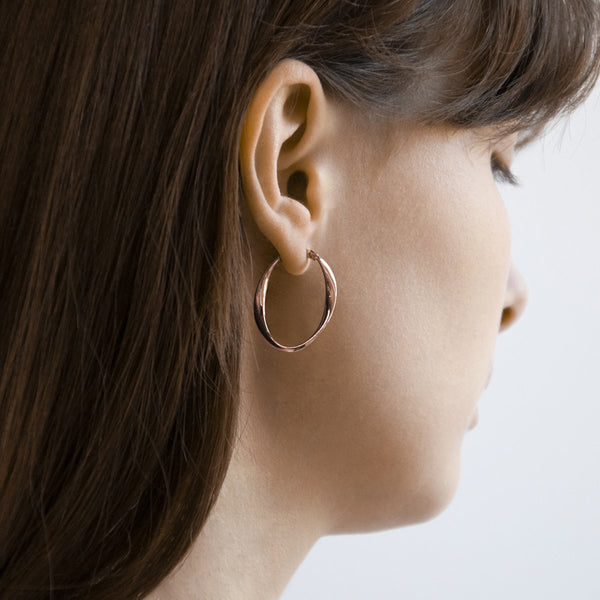Najo Cinta Hoop Rose Gold Earrings