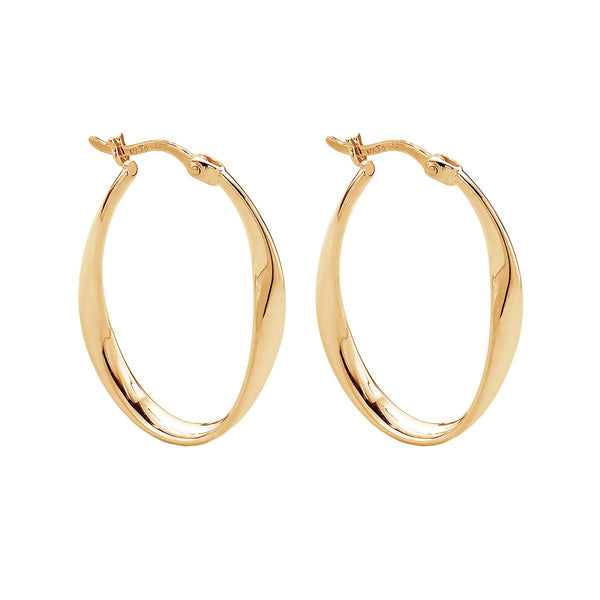 Najo Cinta Hoop Yellow Gold Earrings