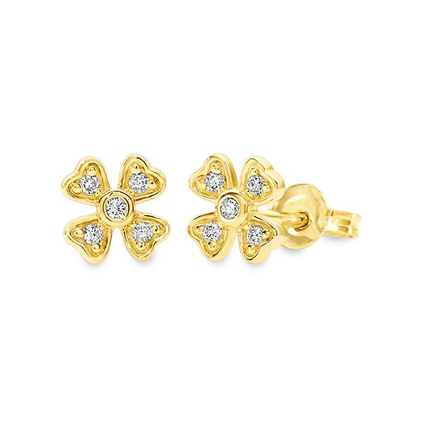 9Ct Gold 0.11Ct Diamond Stud Earrings