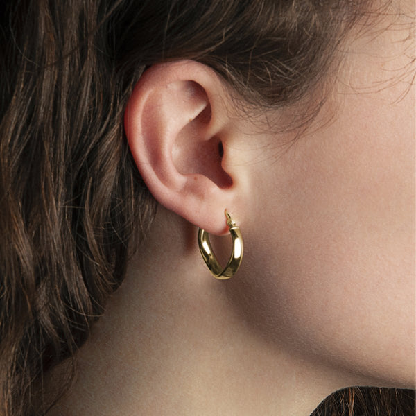 Najo Eddy Hoop Yellow Gold Earrings
