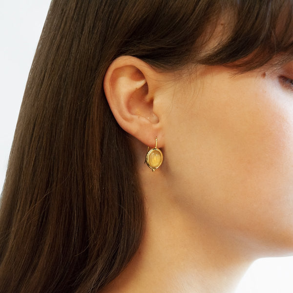 Najo Justinia Earrings Citrine