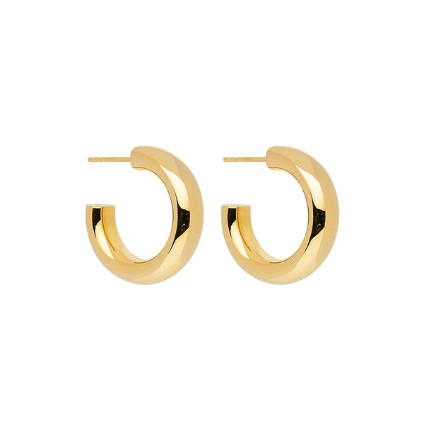 Najo Mama Stud Hoop Earrings Yellow