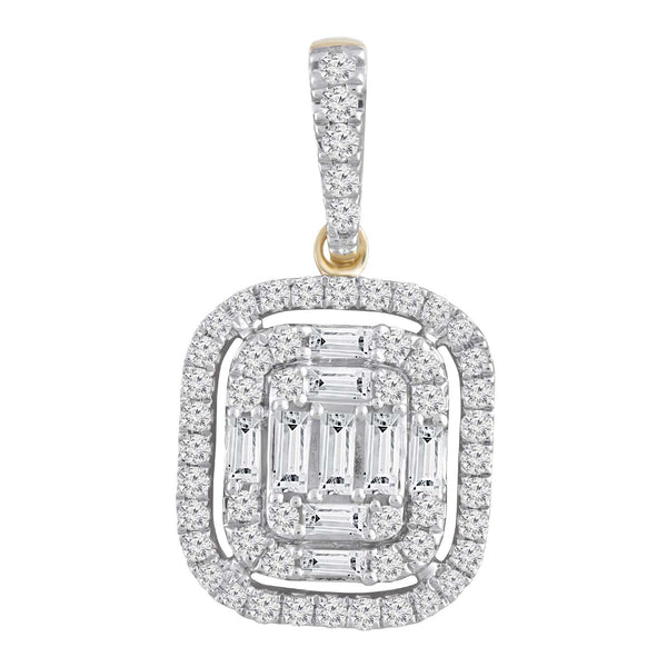 Cluster Pendant with 0.5ct Diamond in 9K Yellow Gold