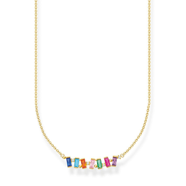 Thomas Sabo Necklace Colourful Stones Gold