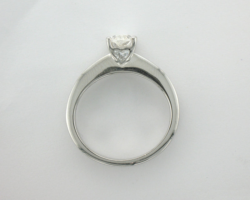 18ct white gold 1.22carat Oval. Princess and Oval shape Diamond Engagement Ring