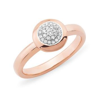 Diamond Pave Dress Ring in 9ct Rose Gold