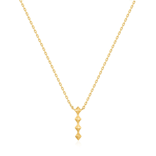 Ania Haie Gold Spike Drop Necklace
