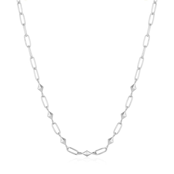 Ania Haie Silver Heavy Spike Necklace