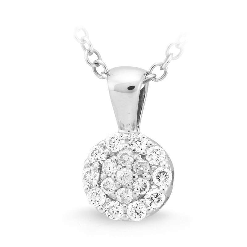 9Ct White Gold 0.17Ct Diamond Pendant