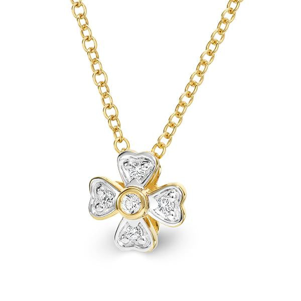 9Ct Gold 0.09Ct Diamond Pendant