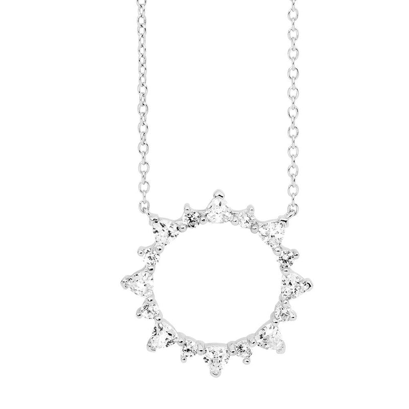 Sterling Silver Cubic Zirconia Necklet