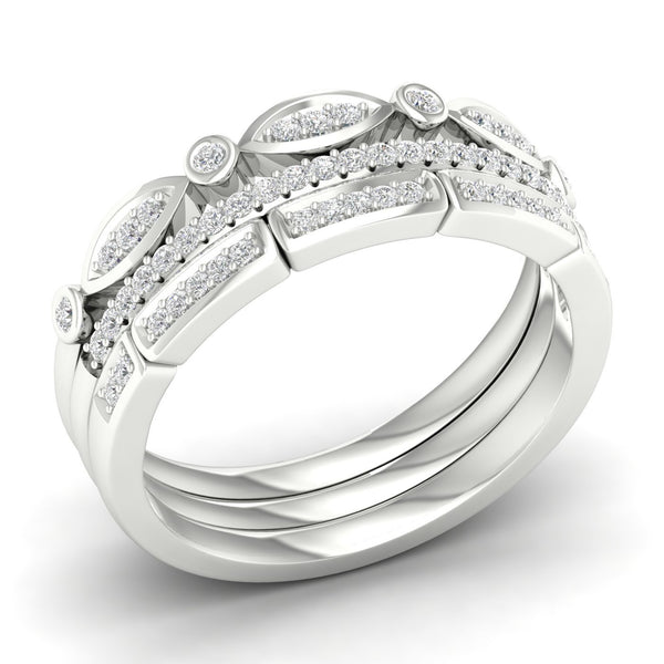 9Ct White Gold 0.25Ct Diamond Ring Set