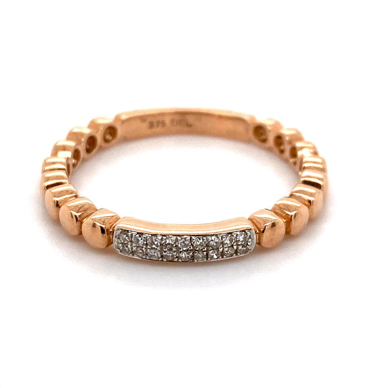 9ct rose gold Diamond band