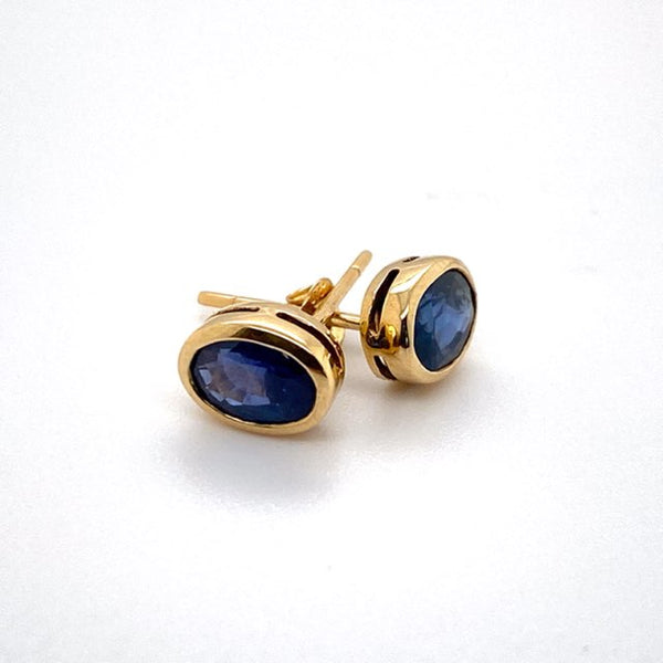Natural Sapphire stud Earrings