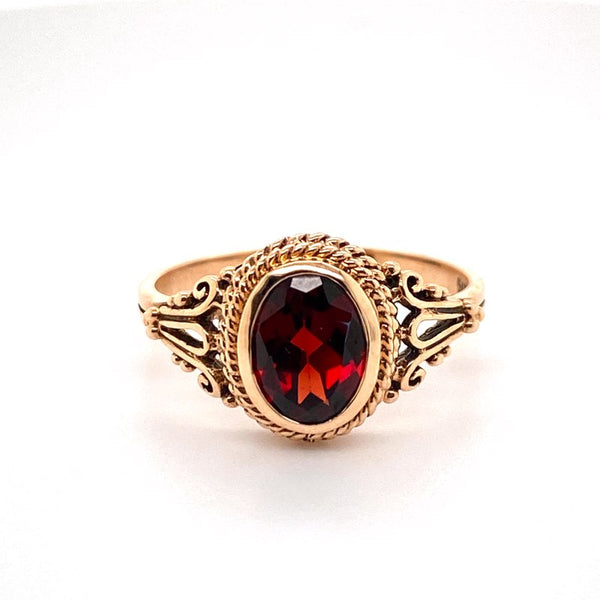 9ct rose gold Garnet Ring