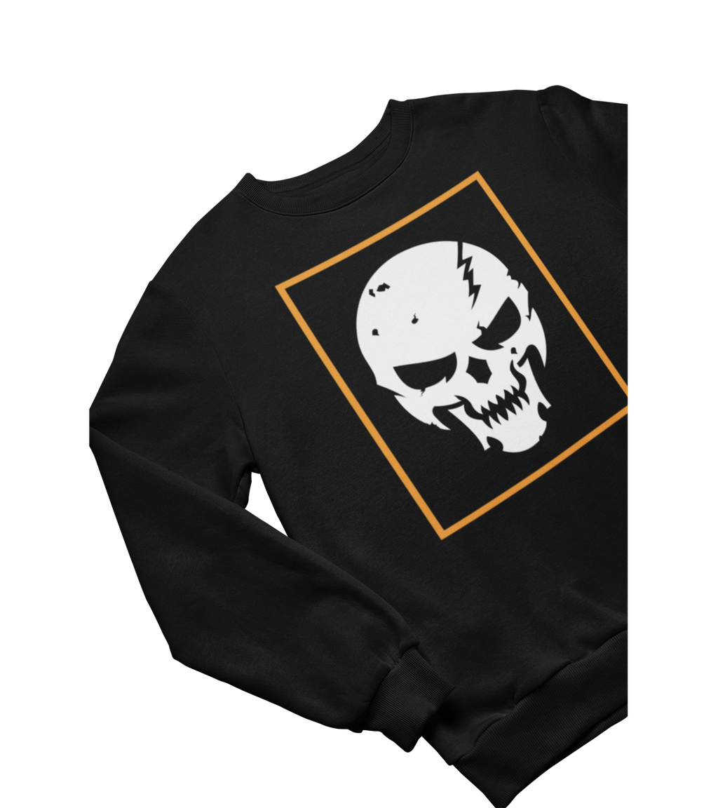 Orange Totenkopf Sweatshirt
