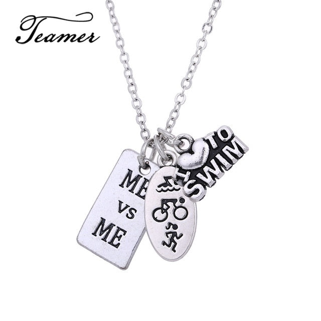 Sport Jewelry Running Girl Pendant