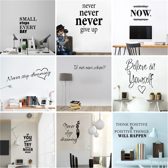 Motivational Quotes Sentences Wall Stickers