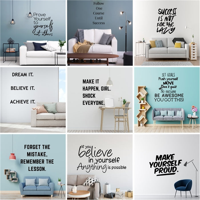Motivation Quotes Vinyl Wall Sticker