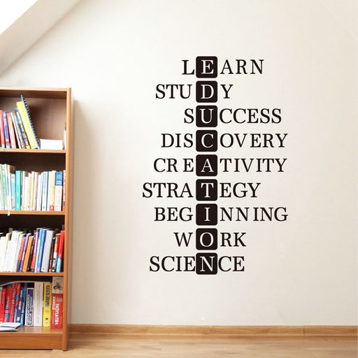 Education Study Success Inspirational Quote Wall Art