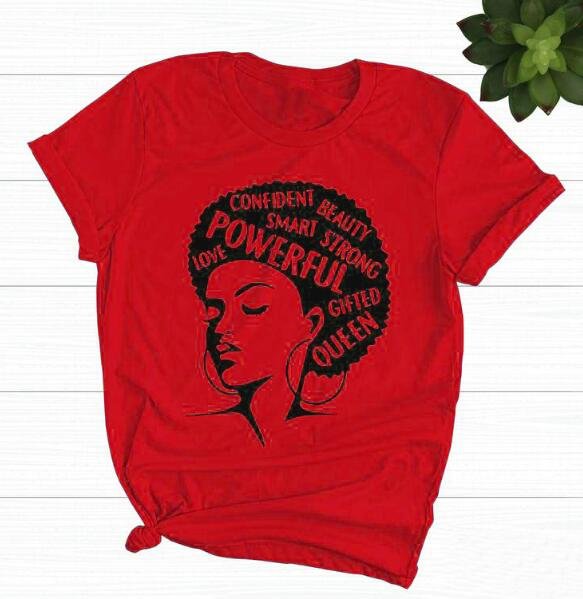 Afro Lady Motivation T-Shirt Graphic