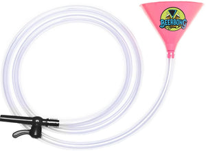 Long Pink Beer Bong - 10 ft. Tubing