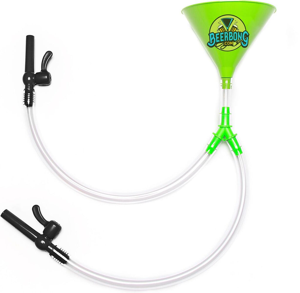 Green Double Valve Beer Bong