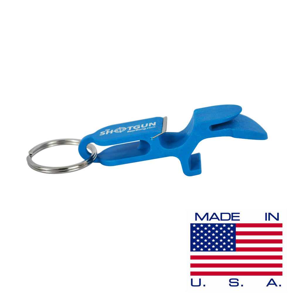 Blue Shotgun Key Chain