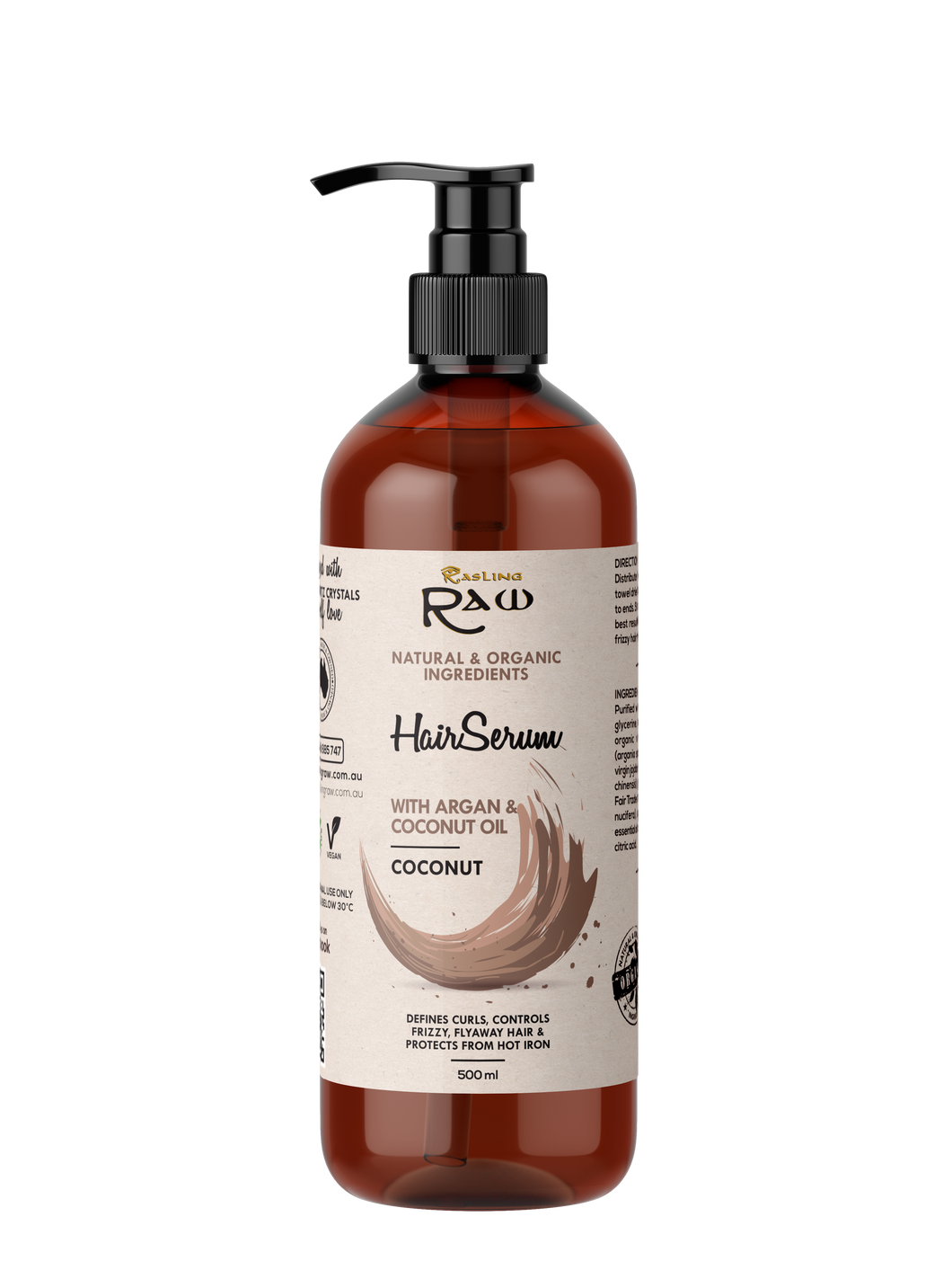 Coconut Hair Serum with Argan and Coconut Oil 500ml