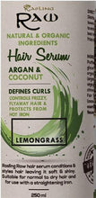 Load image into Gallery viewer, Lemongrass Hair Serum with Argan and Coconut Oil 250ml