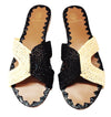 ZINA BLACK & WHITE TWO TONE FLATS