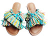CLIO POOL MULTICOLOR CRISS-CROSS FLATS