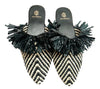 MAMOUNIA NATURAL BLACK TWO TONE SLIPPERS