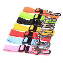 Load image into Gallery viewer, Colourful Adjustable Dog Car Seat Belt