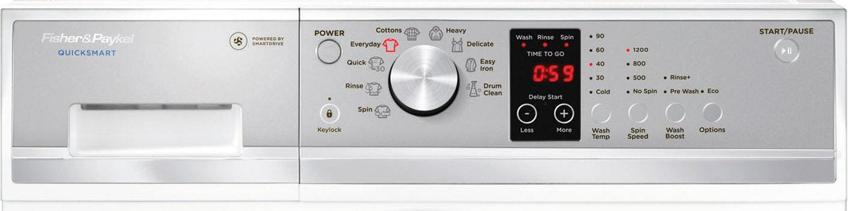 Fisher & Paykel Front Load Washing Machine 7.5 kg - Brisbane Home Appliances