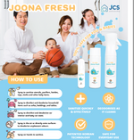 Joona Fresh Sanitising & Deodorising Spray - FAMILY SET - JoonaCare.Shop