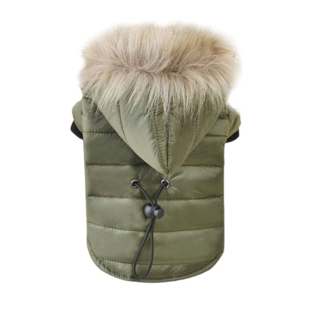 Arctic Puffer Coat - Keep your pet warm & cozy with this windproof & water resistant puffer coat.