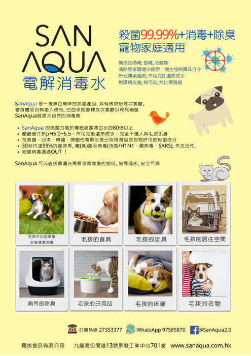 【MOBIJUCE Exclusive Offer】San Aqua Mini Disinfection Spray Machine Package (With Refill 450ml)