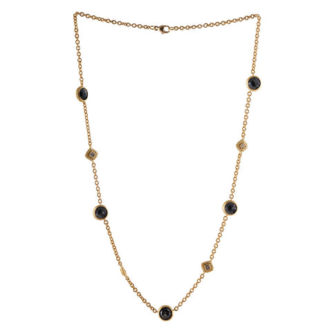 <b>BLACK & WHITE DIAMOND NECKLACE</b><br>by G.S. DESIGN