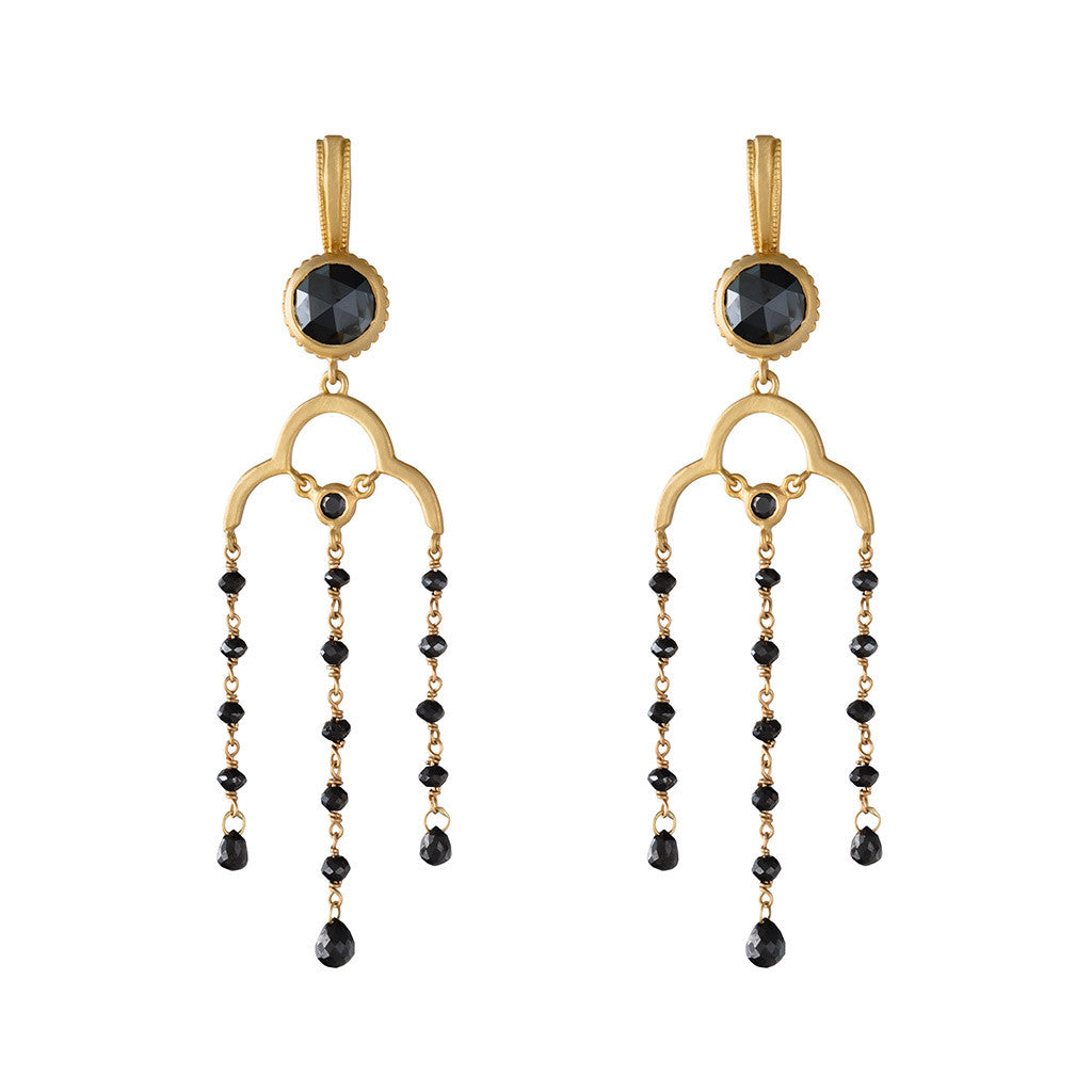 <b>DIAMOND CHANDELIER EARRINGS</b><br>by G.S. DESIGN