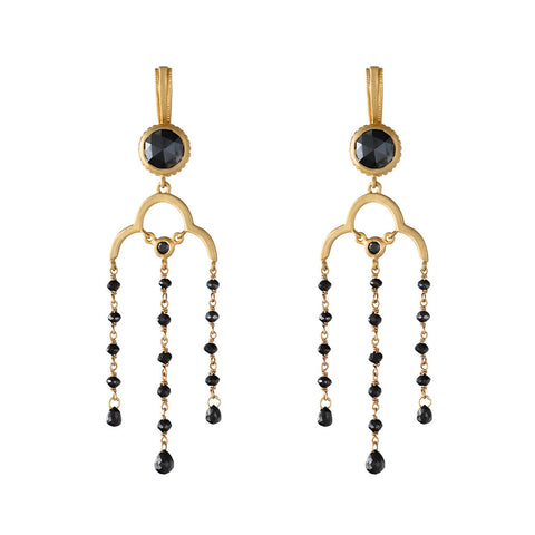 <b>DIAMOND CHANDELIER EARRINGS</b><br>by G.S. DESIGN - PERSONA JEWELRY