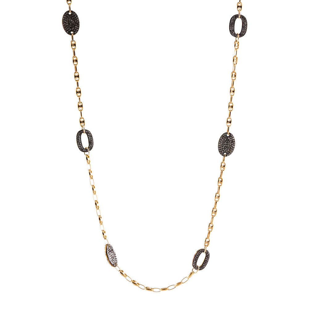 <b>OVAL CHAMPAGNE DIAMOND CHAIN</b><br>by G.S. DESIGN